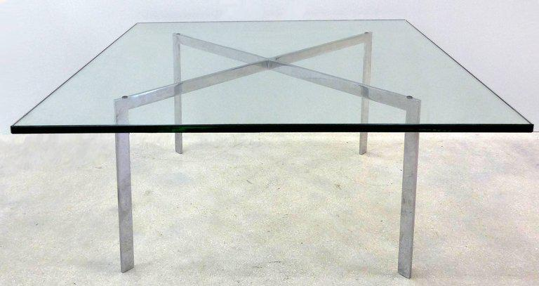 Mid Century Modern Mies Van Der Rohe Barcelona Coffee Table By Knoll For  Sale