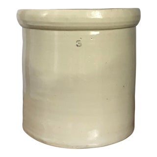 1900's Folk Art 3-Gallon Stoneware Crock For Sale