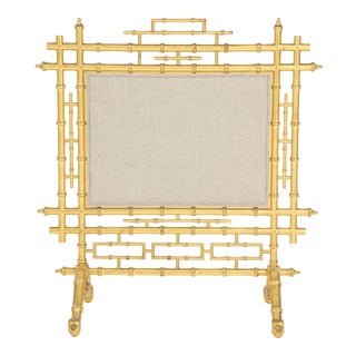 Faux Bamboo Fireplace Screen For Sale