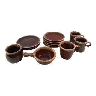 Hull & McCoy Drip Glaze Dishes - Set of 13