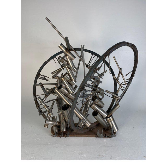 """Metal Late 20th Century D. Phillips """"Gates"""" Welded Steel Sculpture For Sale - Image 7 of 11"""