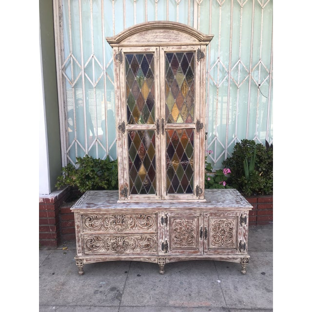 French Style Distressed Cabinet - Image 2 of 11