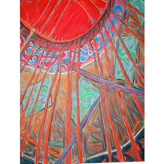 """Yurt"" by Trixie Pitts Large Oil Painting For Sale"