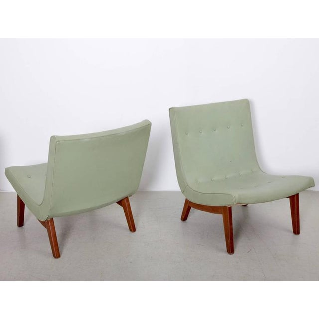 Mid-Century Modern Original Pair of Milo Baughman Scoop Lounge Chairs USA , 1950s For Sale - Image 3 of 6