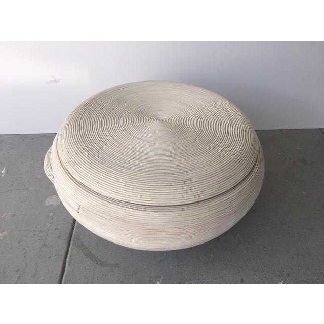 Gabriella Crespi Style Bamboo Swivel Coffee Table - Image 2 of 5
