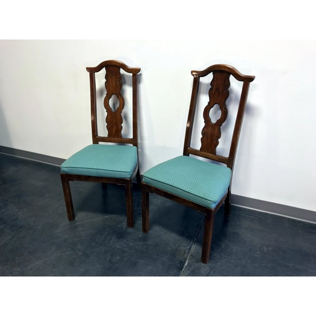Thomasville THOMASVILLE Mystique Asian Chinoiserie Dining Side Chairs - Pair 1 For Sale - Image 4 of 13