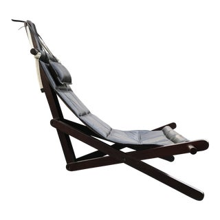 Dominic Michaelis Leather Sling Chair Brazil For Sale