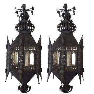 Early 19th Century Antique Andalusian Lanterns - a Pair For Sale