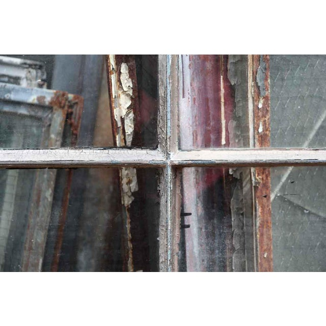 Industrial 6 Pane Steel Frame Glass Window For Sale - Image 4 of 7