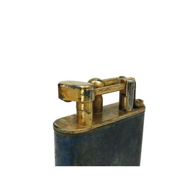 Aged Lift Arm Table Lighter by Dunhill - Image 6 of 9