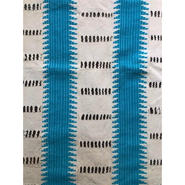 Vintage Moorish Hand Woven Throw For Sale - Image 4 of 5