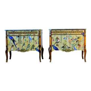 1940s Christian Lacroix Style Commodes - Pair For Sale