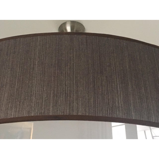 Contemporary Custom Brown Drum Light For Sale - Image 3 of 4