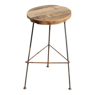 Rustic Industrial Bar Stool For Sale