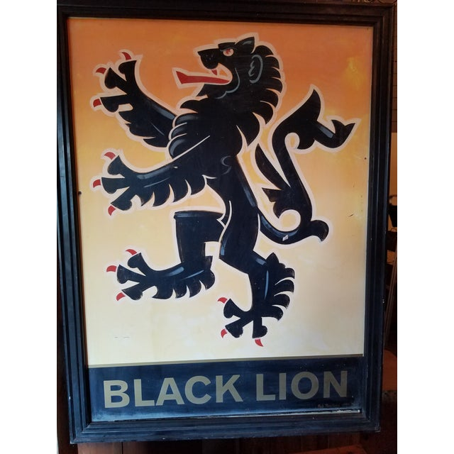 """Antique Pub Sign From United Kingdom - """"Black Lion"""" - Double-Sided - Metal - Hand Painted For the past couple of years we..."""