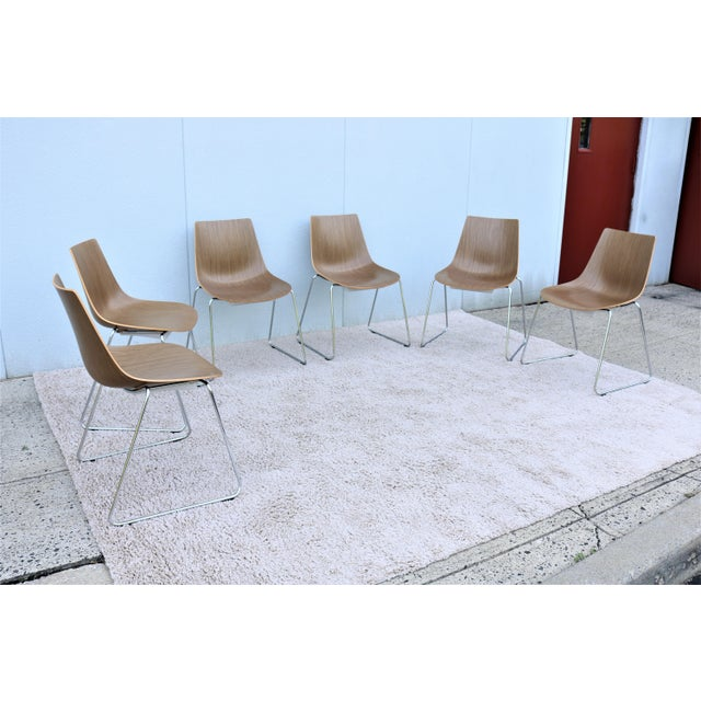 Mid-Century Modern Style Allermuir Curve Dining or Stacking Side Chairs- Set of 6 For Sale - Image 4 of 13
