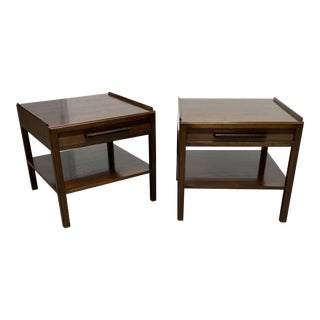 Mid 20th Century 1950's Dunbar Furniture Edward Wormley Occasional Tables - a Pair For Sale