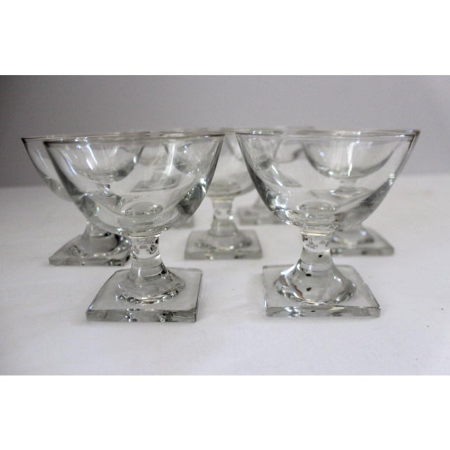 Contemporary Contemporary Square Base Champagne Glasses - Set of 7 For Sale - Image 3 of 6