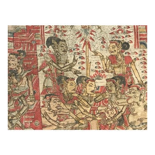 Antique Large Textile Painting For Sale