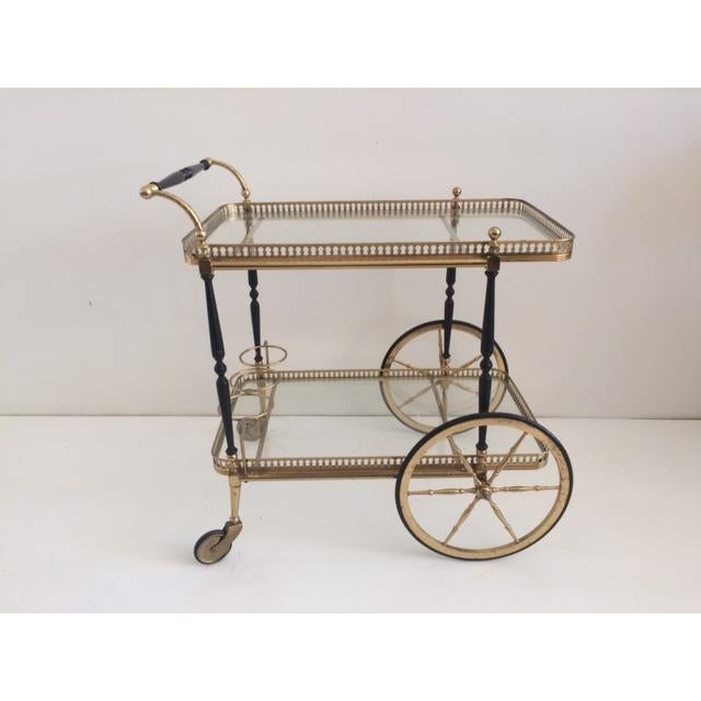 French Bar Cart From the 1940's For Sale - Image 10 of 10