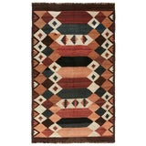 Image of Earth Tones of Antique Kilim Etno Labijar For Sale