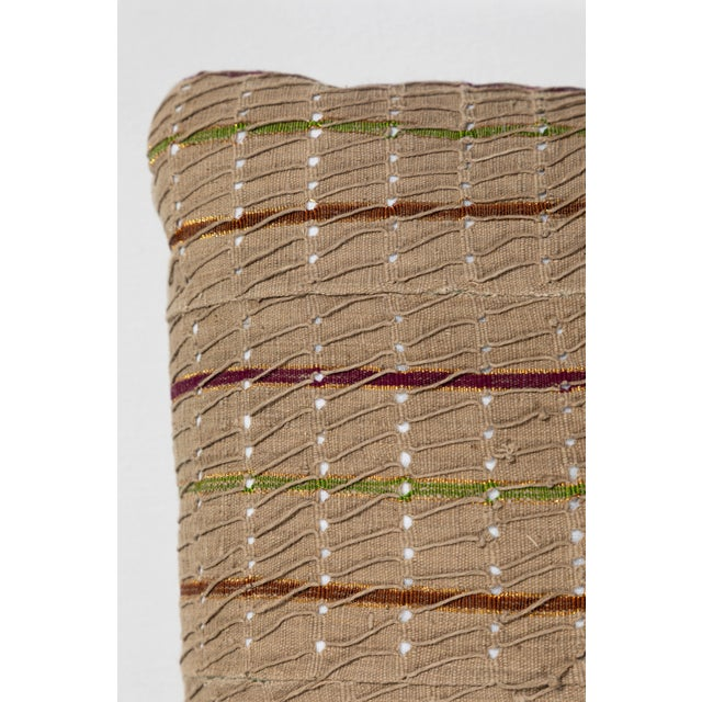 Late 20th Century Vintage African Ashante Textile Pillow For Sale - Image 5 of 8