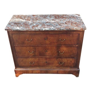 19th Century English Traditional Bronze Flamed Mahogany Commode