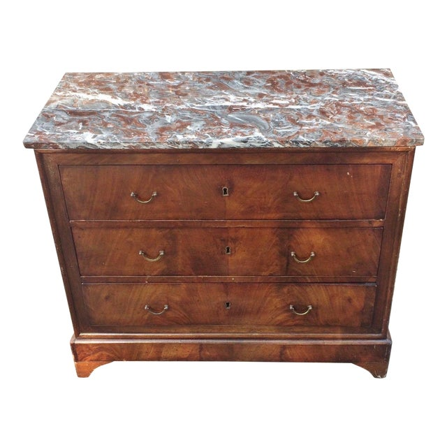 19th Century English Traditional Bronze Flamed Mahogany Commode For Sale