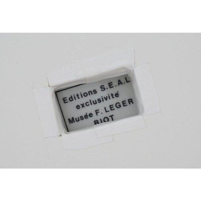Mid 20th Century Vintage Framed Fernand Leger Porcelain Plates - a Set of 4 Different in Lucite Shadowbox Frames For Sale - Image 5 of 13