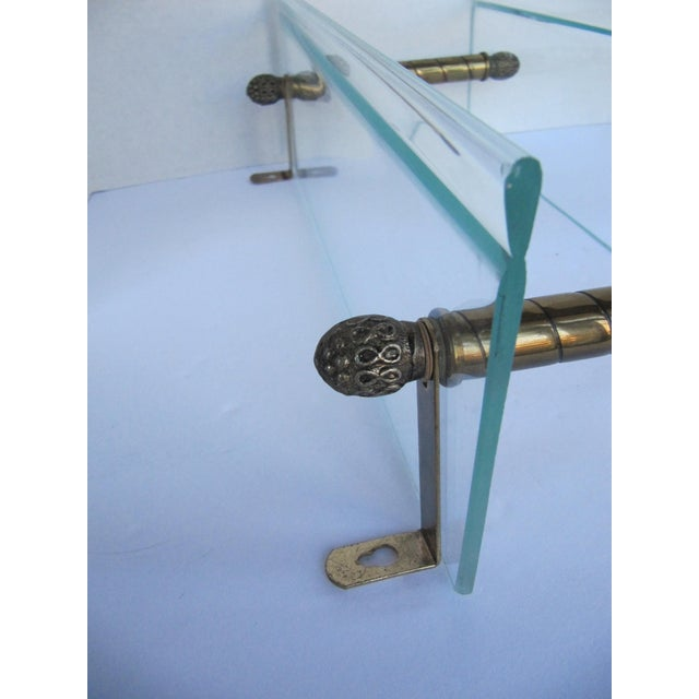 Vintage Glass and Brass Shelf For Sale - Image 4 of 8