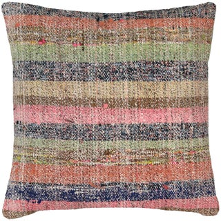 "Nalbandian - 1960s Turkish Hemp Pillow - 19"" X 19"" For Sale"