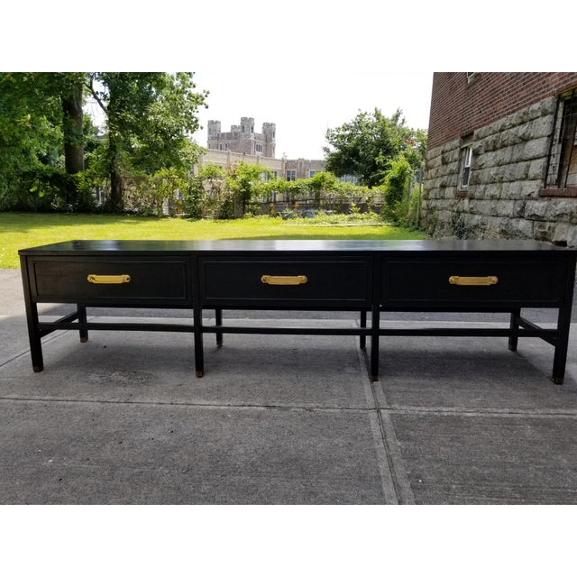 Hollywood Regency Vintage America of Martinsville Painted Hollywood Regency Style Console For Sale - Image 3 of 11