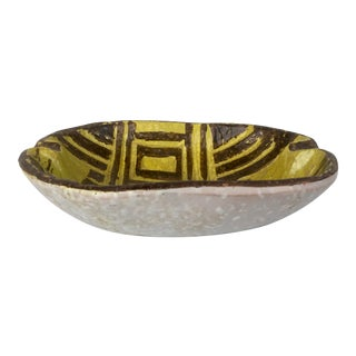 Vintage Italian Pottery Bowl For Sale