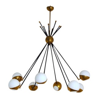 Mid Century Italian Style Chandelier For Sale