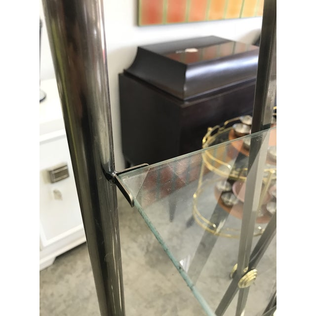 Dia Etagere with Glass Shelves For Sale - Image 11 of 13