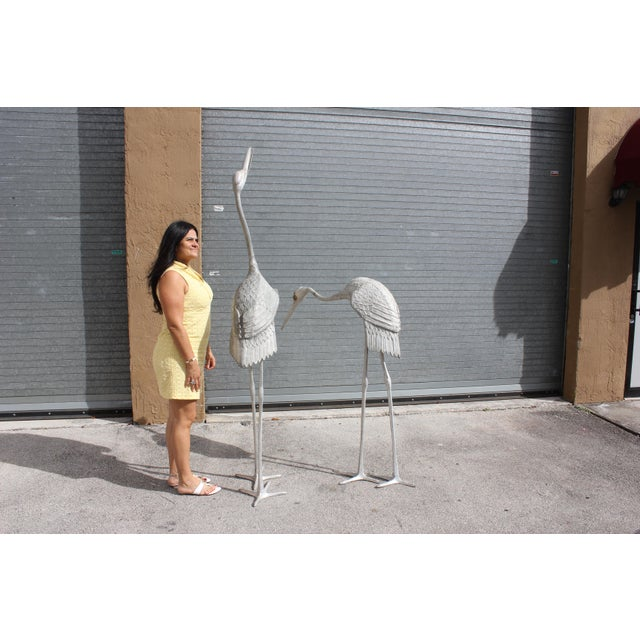 Monumental Vintage Art Deco Flamingo Sculpture 1950s - Image 8 of 10