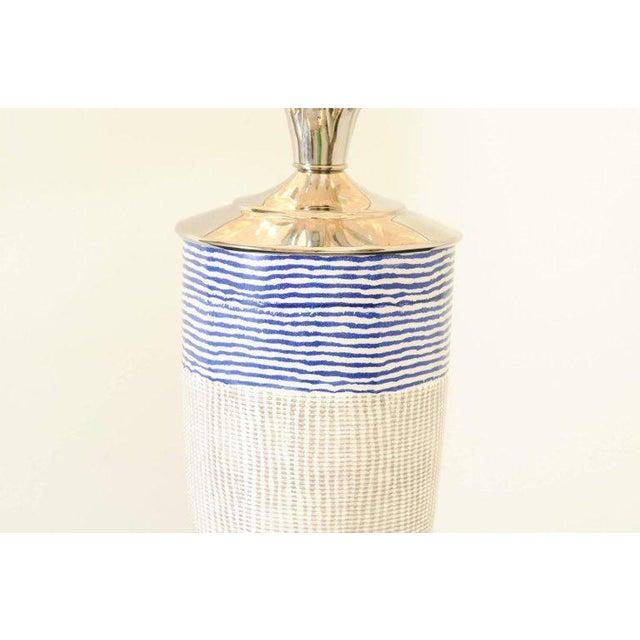 Ceramic Exquisite Pair of Handmade Portuguese Ceramic Vessels as Custom Lamps For Sale - Image 7 of 11