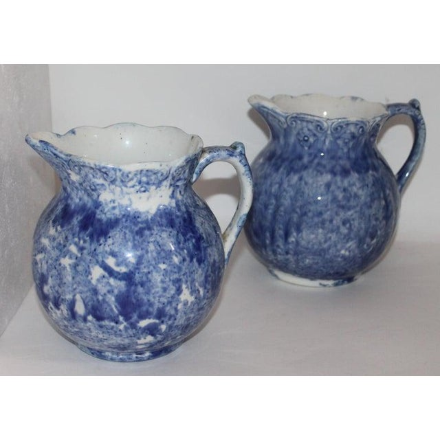 Late 19th Century 19th Century Bulbous Sponge Ware Pitcher Collection - 8 Piece Set For Sale - Image 5 of 8