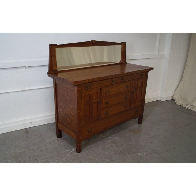 Period Arts & Crafts Mission Oak Sideboard - Image 2 of 10