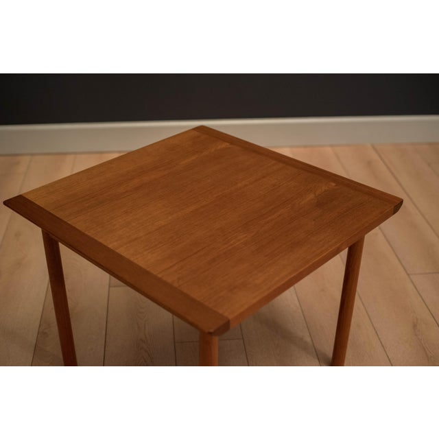 Westnofa Furniture 1960s Mid-Century Modern Westnofa Teak Side Table For Sale - Image 4 of 12