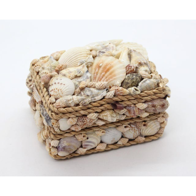 1970s Vintage Shell Encrusted Grotto Style Box For Sale - Image 5 of 6