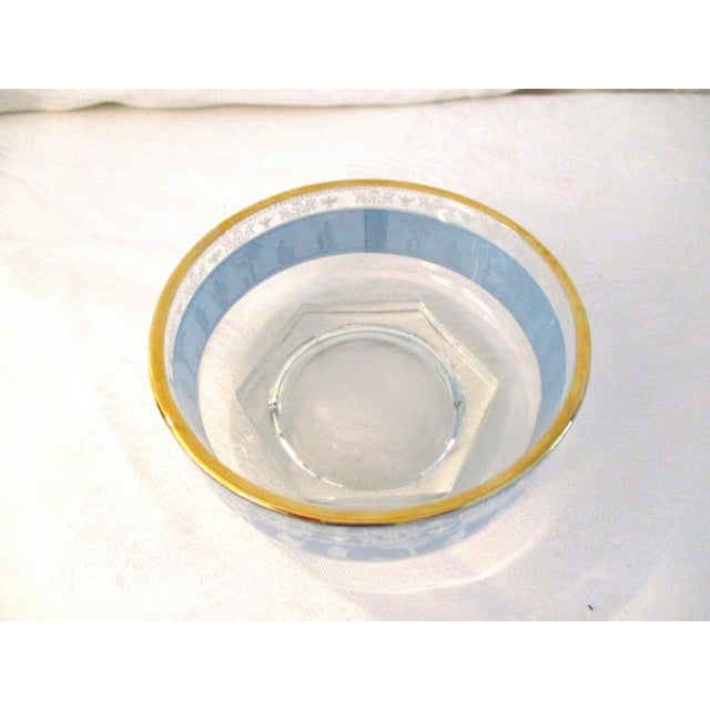 Hollywood Regency Mid-Century Blue Grecian Bowls- A Pair For Sale - Image 3 of 7