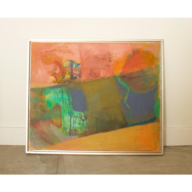 Abstract 1970s Abstract Expressionist Painting, Framed For Sale - Image 3 of 6