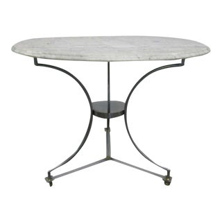 Marble Top Table after Maison Jansen For Sale