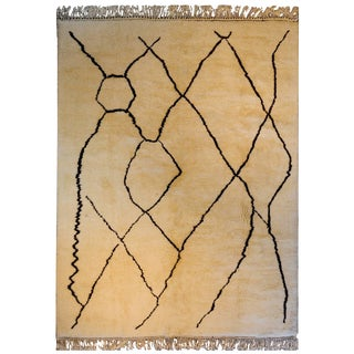Contemporary Moroccan Beni Ourain Rug For Sale