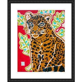 "Medium ""Red Jaguar"" Print by Jelly Chen, 26"" X 32"" For Sale"