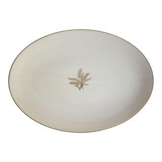1950s Lenox China Wheat Pattern Platter For Sale