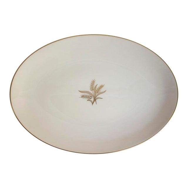 1950s Lenox China Wheat Pattern Platter For Sale