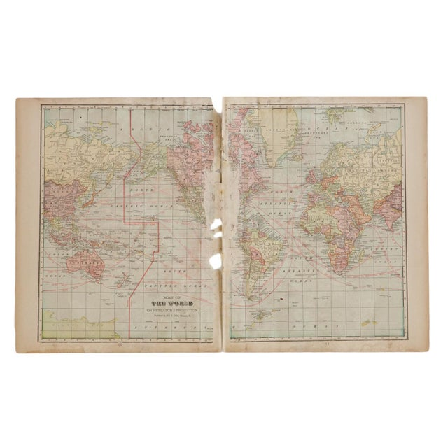Paper Cram's 1907 Map of World For Sale - Image 7 of 7