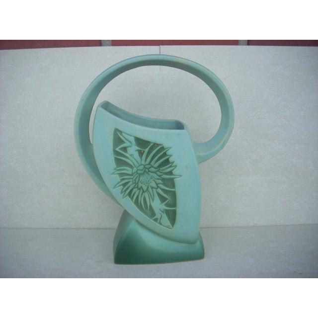 Roseville Silhouette Basket Vase - Image 2 of 4